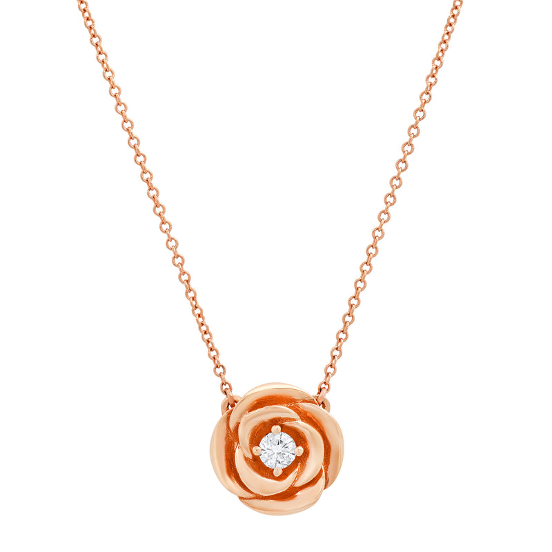 Floating Rose Diamond Necklace
