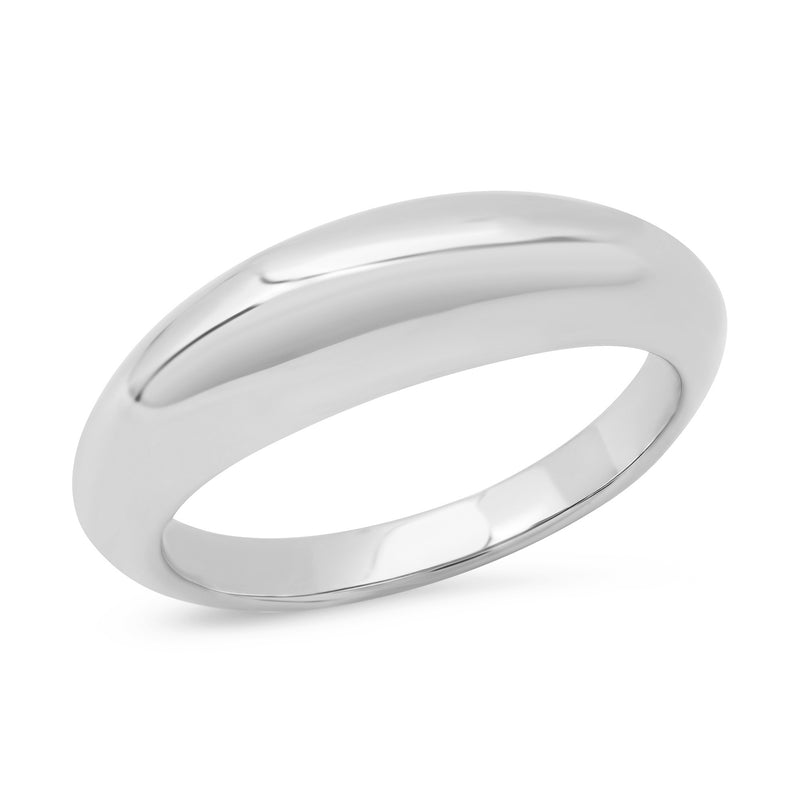 Small Solid Domed Ring