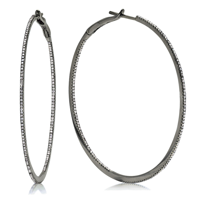 "2"" Diamond Hoops"