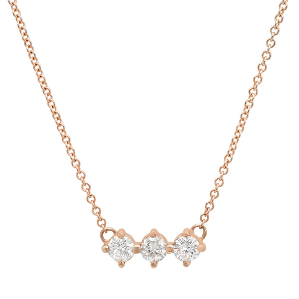 3 Diamond Necklace