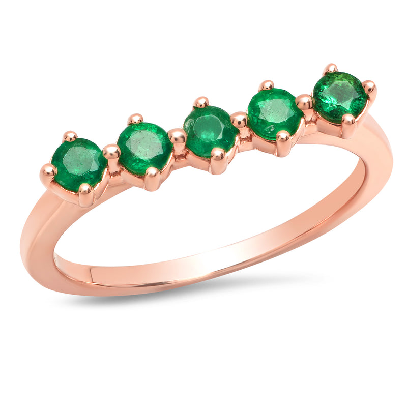 5 Emerald Punch Ring