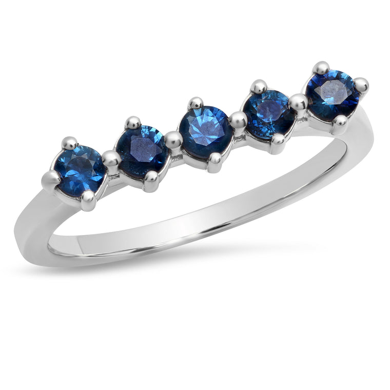 5 Sapphire Punch Ring