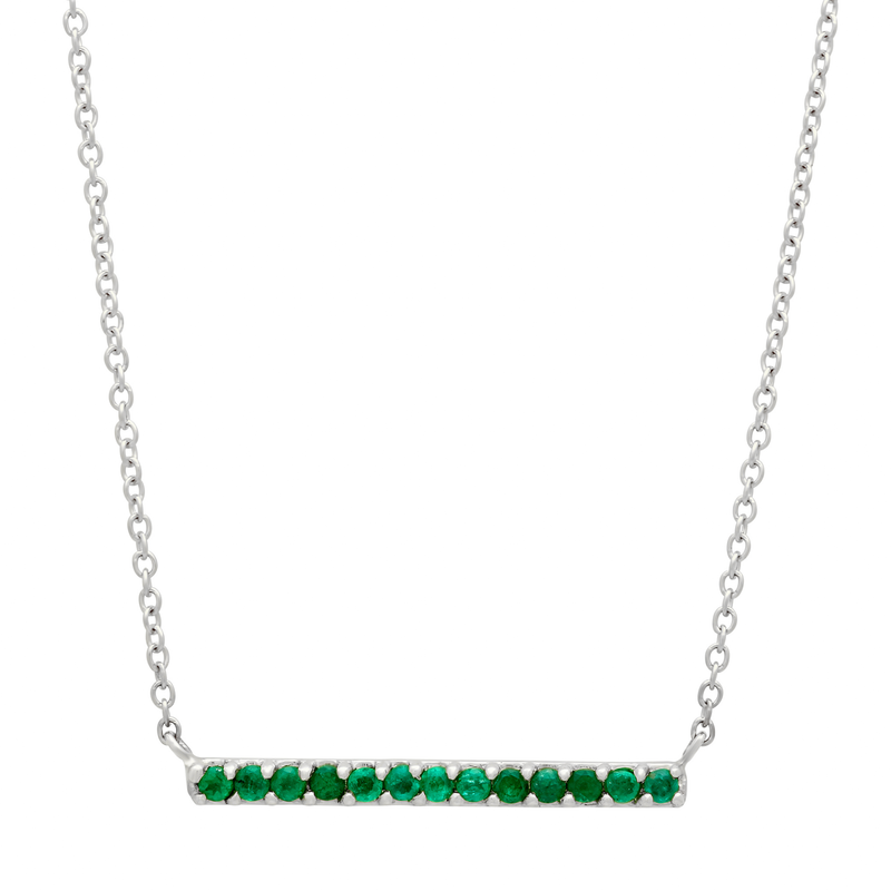 Emerald Bar Necklace