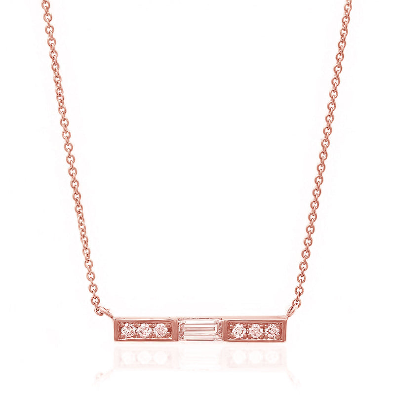 Extended Baguette Bar Necklace