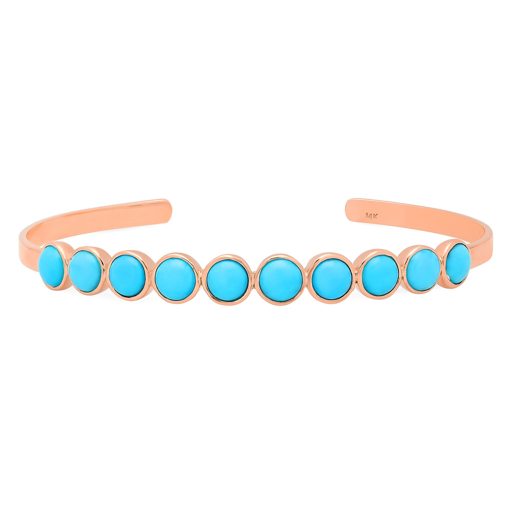 10 Stone Turquoise Cuff