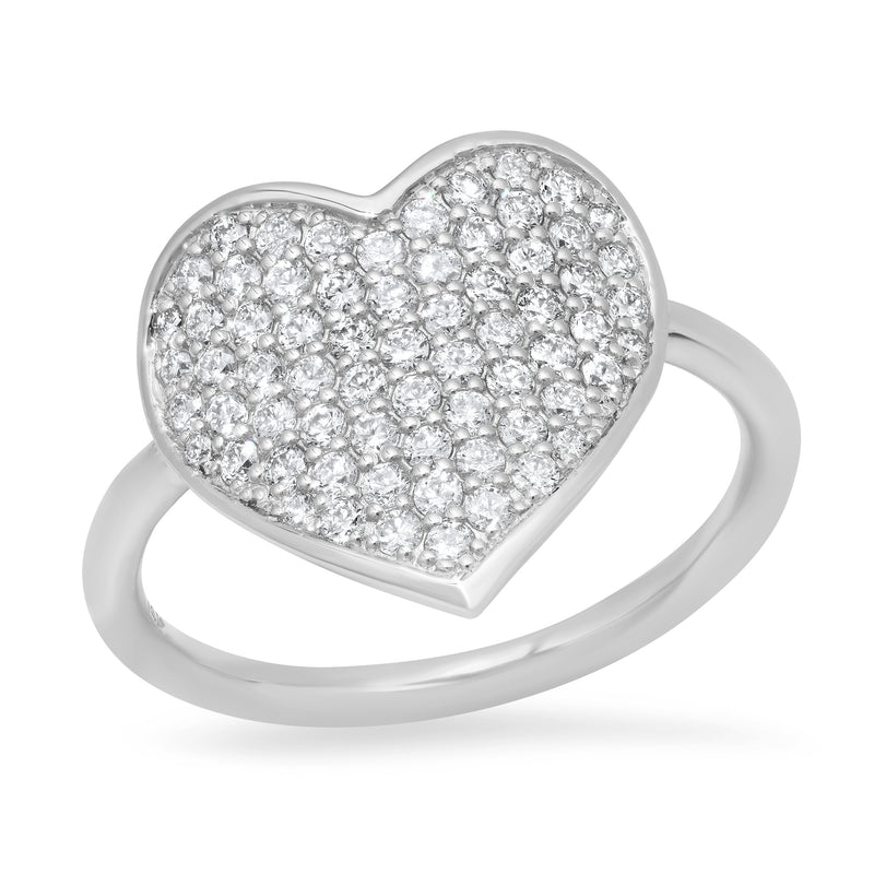 MS X SRJ Large Diamond Heart Ring