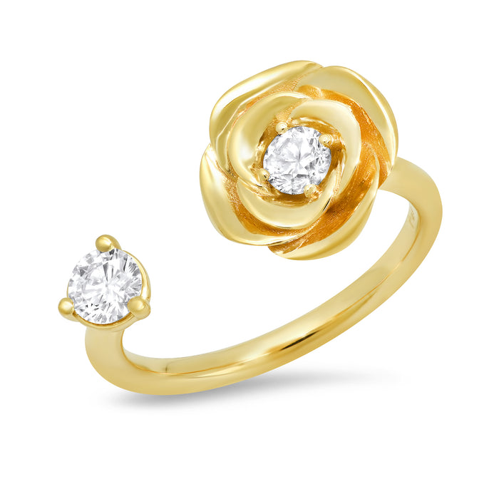 Floating Diamond Rose Ring