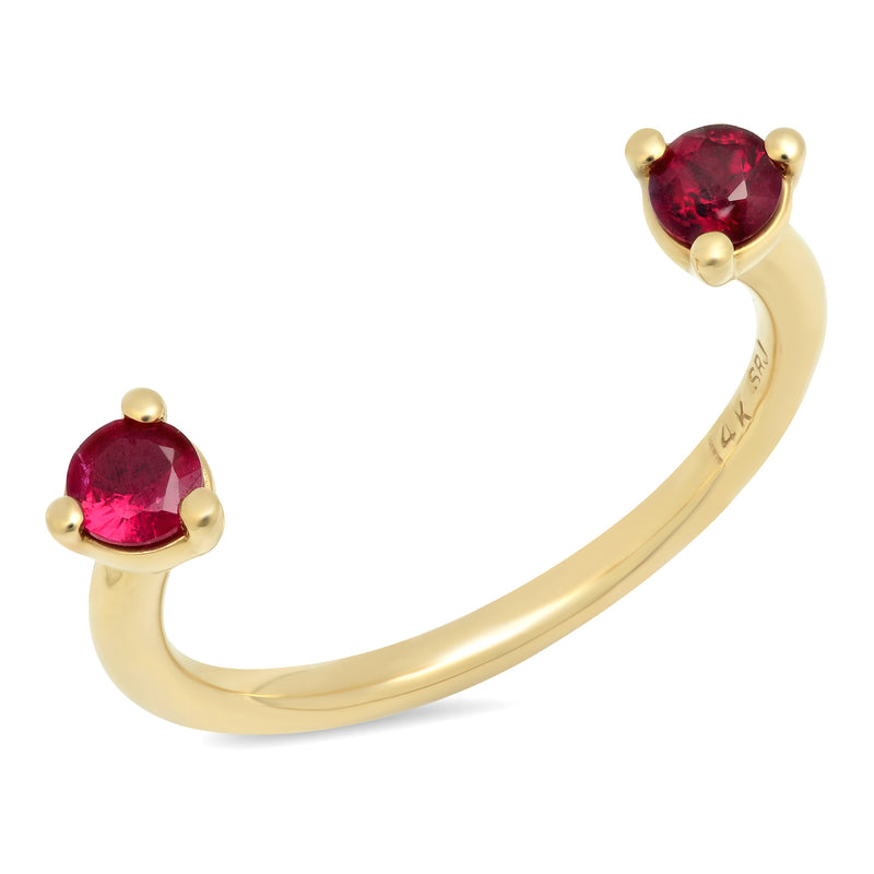 Floating Ruby Ring