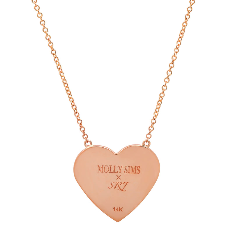 MS X SRJ Diamond Framed Heart Necklace