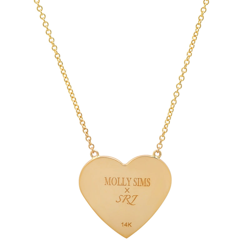 MS X SRJ Solid Heart Necklace