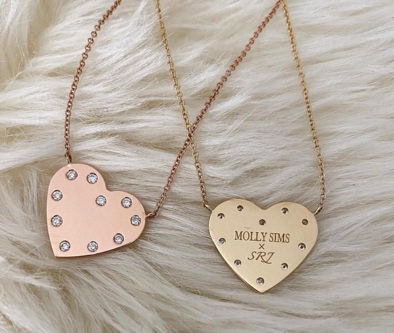Engraving on back of Heart Necklaces.