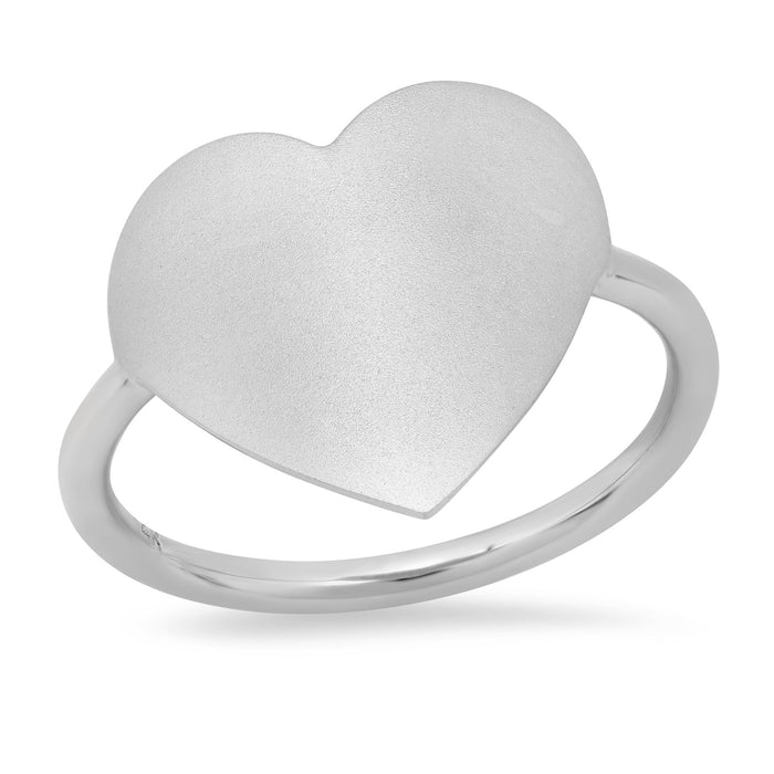 MS X SRJ Large Solid Heart Ring