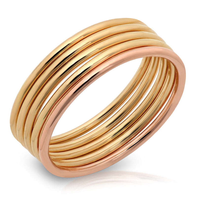 Layering Solid Gold Rings