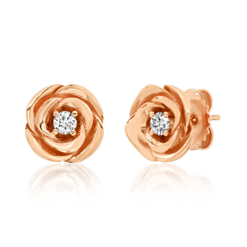 Rose Diamond Earrings