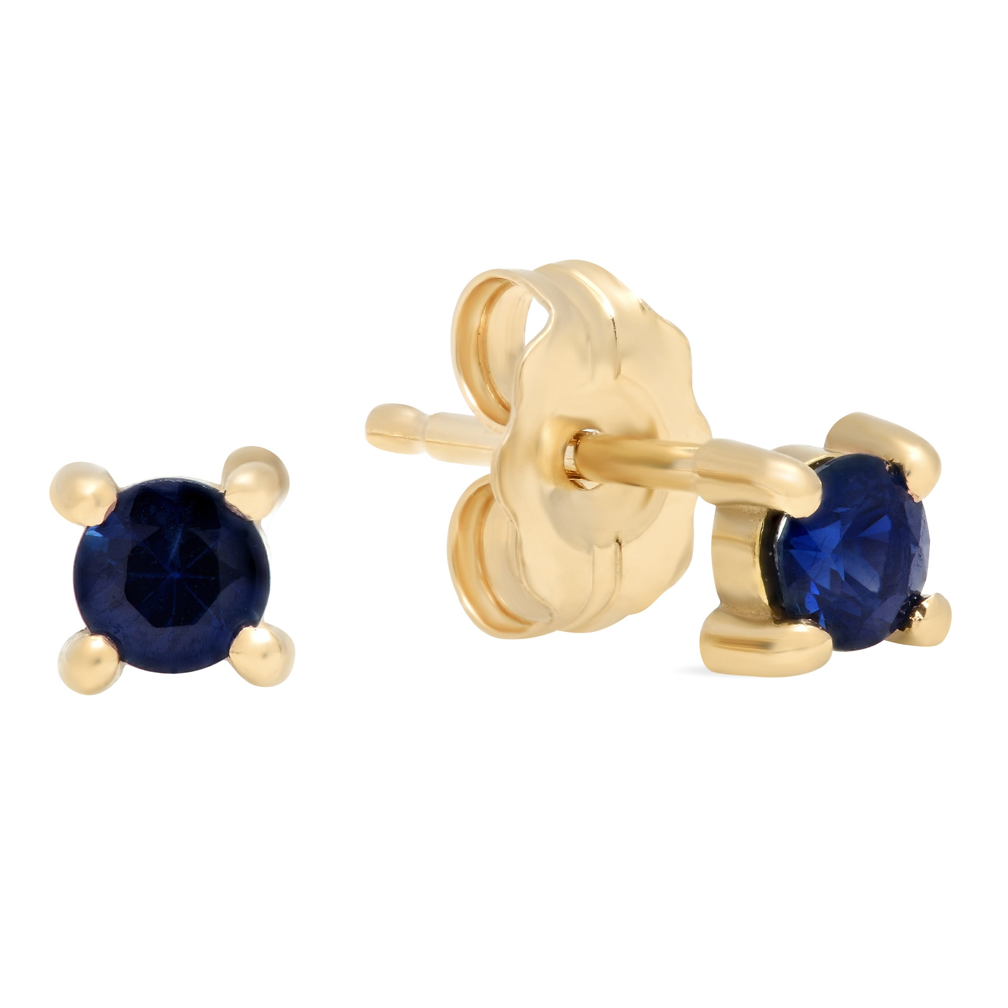 itm diamonds sterling silver and earrings ct in with gold sapphire stud