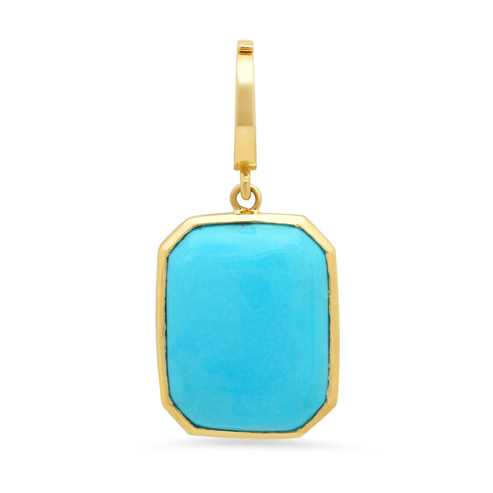 One of a Kind Small Turquoise Charm