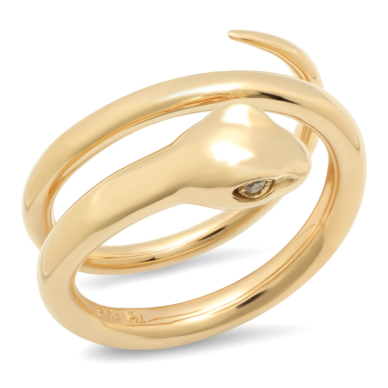 Double Wrap Snake Ring