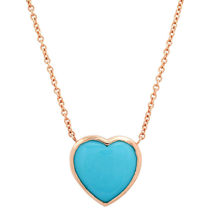 Turquoise Framed Heart Necklace