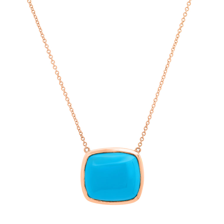 Turquoise Framed Necklace