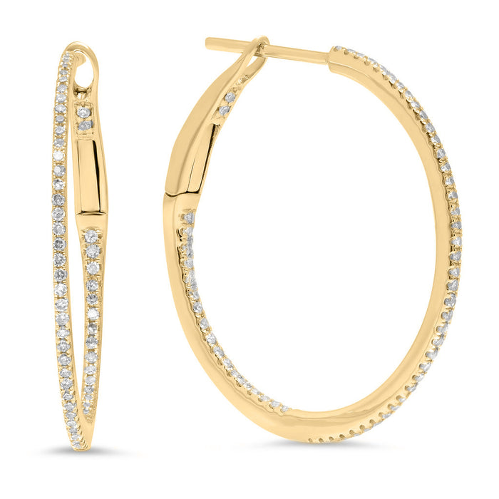 "1"" Diamond Hoops"