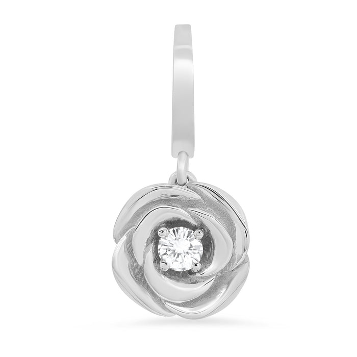 Diamond Rose Charm