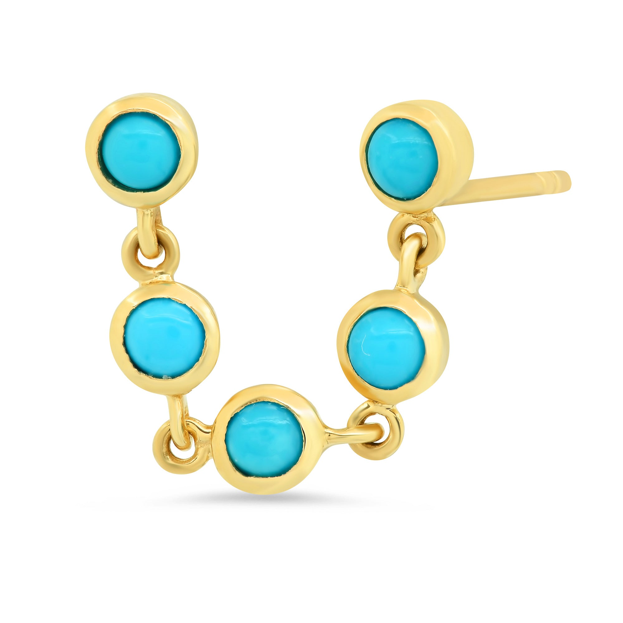 Double Pierced Turquoise Earrings