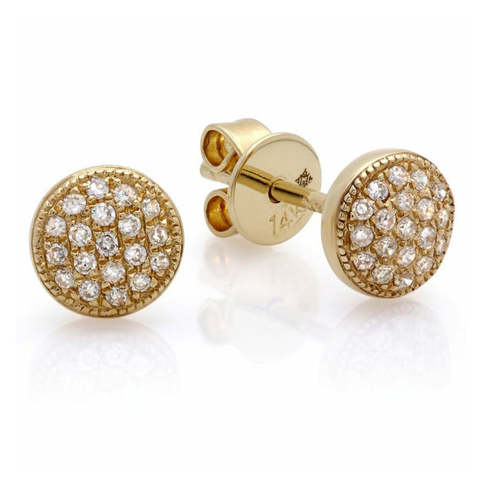Small Diamond Domed Studs