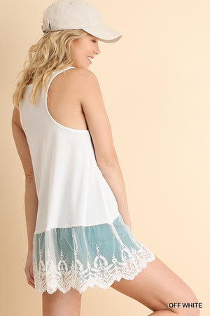 UMGEE TANK WITH LACE
