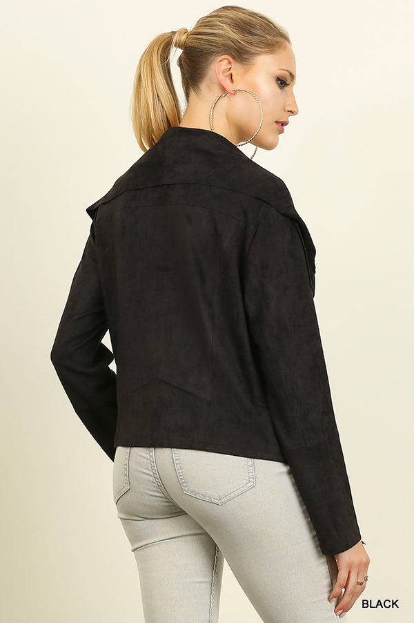 THE RIHANNA SUEDE MOTO JACKET