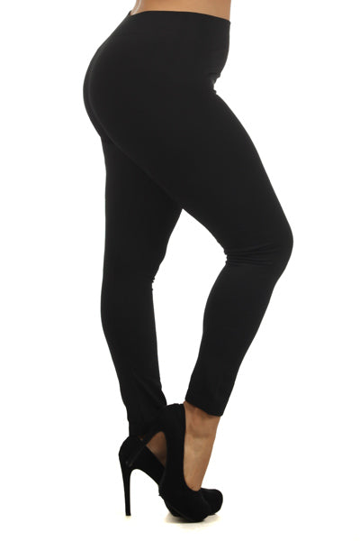 WOMEN'S PLUS SEAMLESS FLEECE LINED LEGGINGS