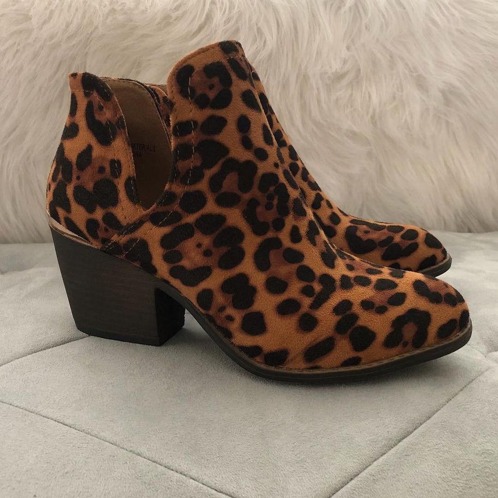 THE LYDIA LEOPARD BOOTIE