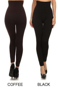 HIGH WAIST LEGGING WITH FRENCH TERRY LINING