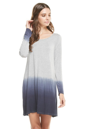 Dip Baby Dip Ombre Hand Dyed Tunic Dress