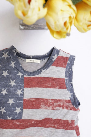 I HEART AMERICA TOO KIDS SLEEVELESS TOP