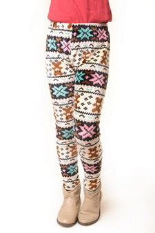SNOWFLAKES AND BEARS OH MY! LEGGINGS