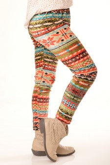 WARM WISHES TOO PRINTED HOLIDAY LEGGINGS