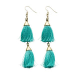MINT TASSEL EARRINGS