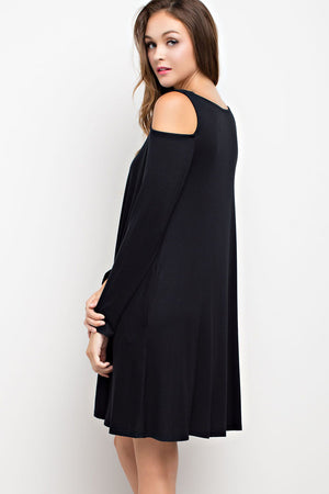 Give Fall the Cold Shoulder Dress