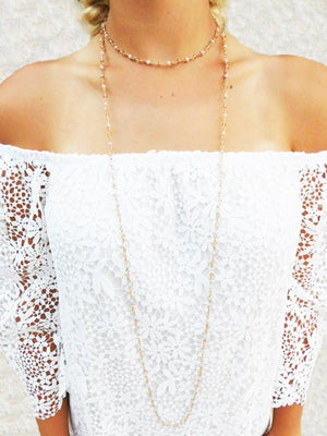 Manhatten Long Bead Wrap Necklace