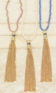 Luciana Gold Tassel Necklace