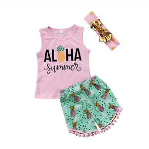 ALOHA SUMMER SHORT SET