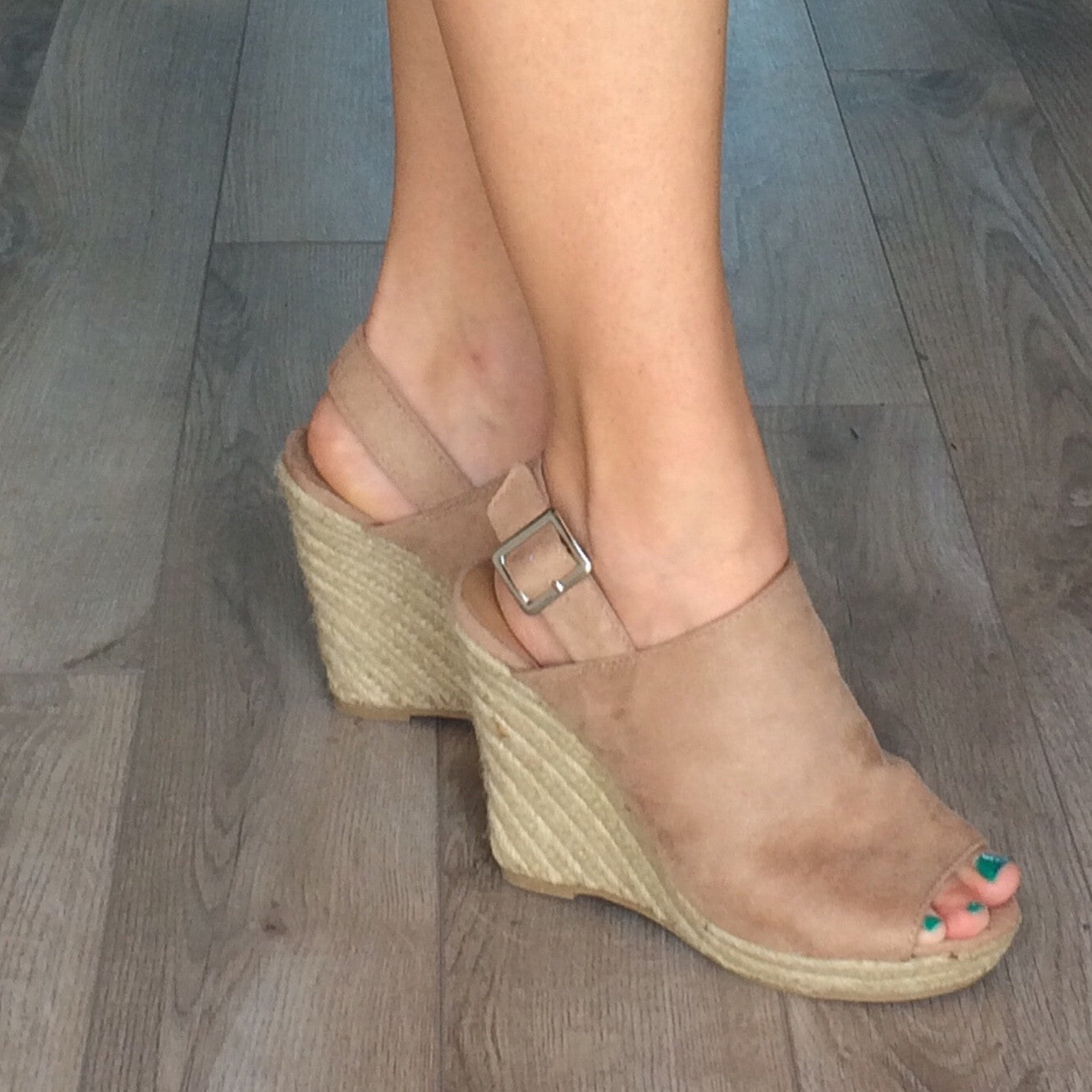 Denise Peep Toe Wedge