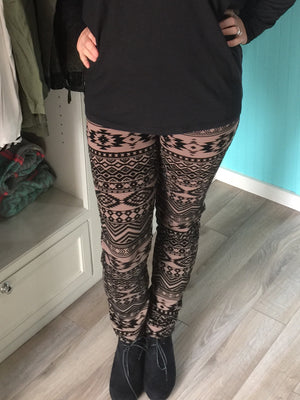 Gotta Good Feeling Textured Printed Ponte Jeggings