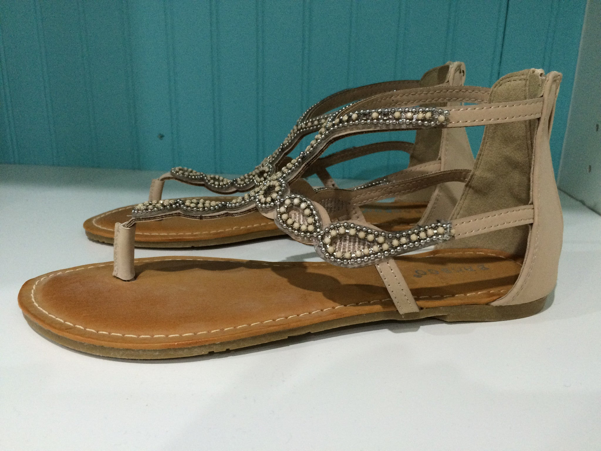 Raku Gladiator Beaded Sandal