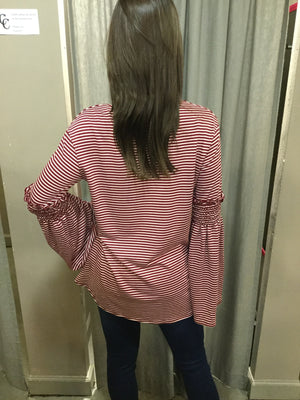CANDY CANES STRIPED TOP