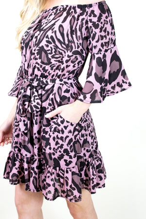 THE KATNISS ANIMAL PRINT DRESS