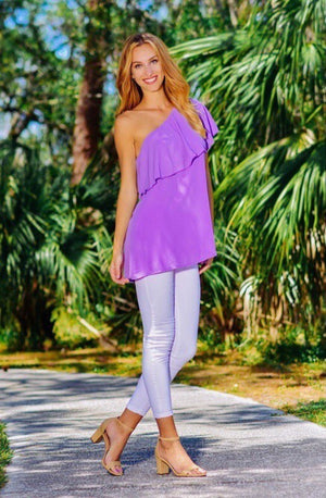 THE RALEIGH ONE SHOULDER ASYMMETRICAL TUNIC TOP