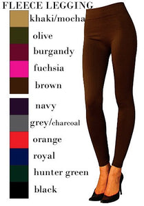 Smooth Fleece Lined Leggings