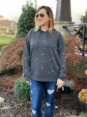 THE STAR PRINT FLEECE PULLOVER HOODIE