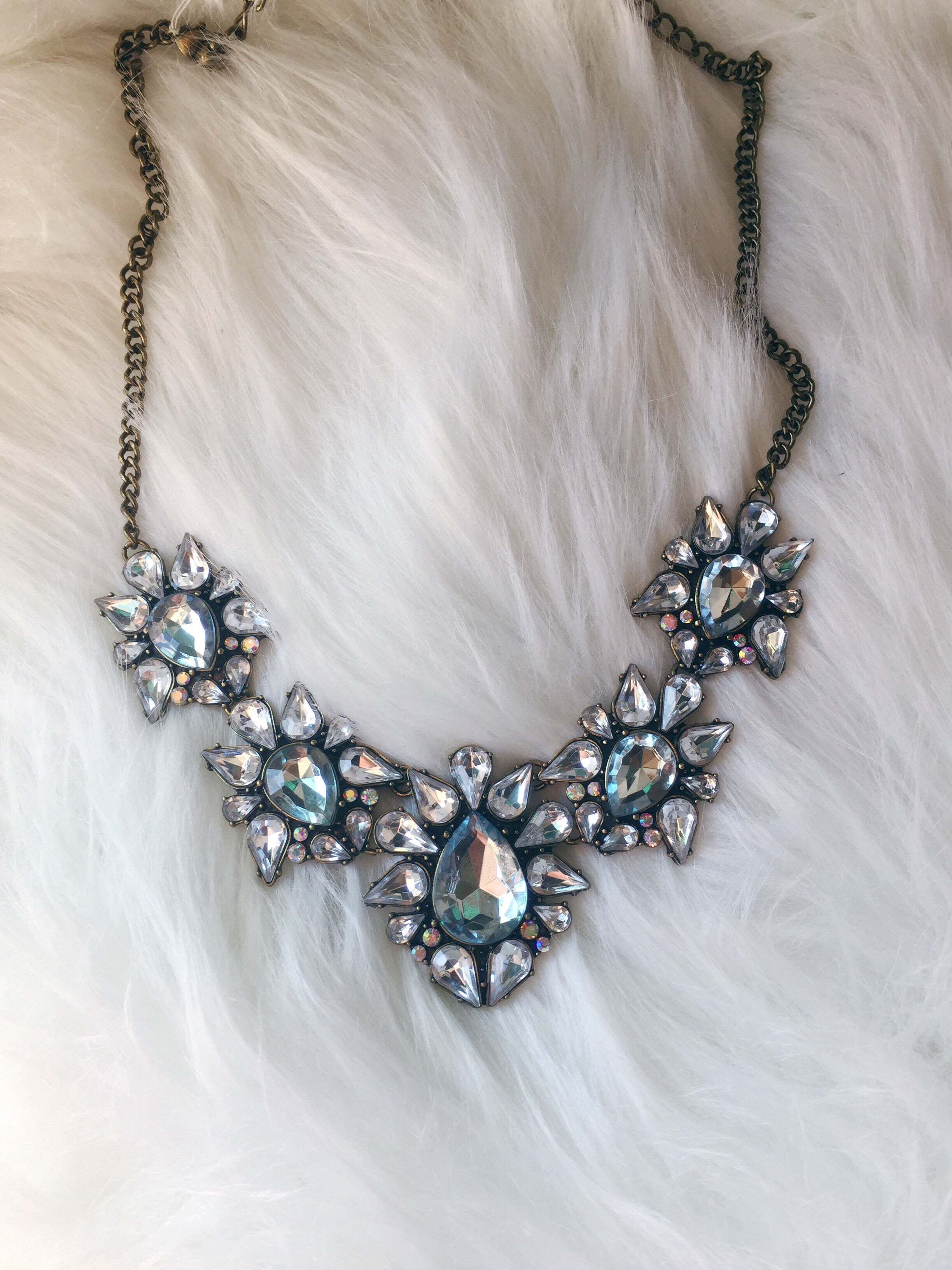 Infatuation Crystal Statement Necklace